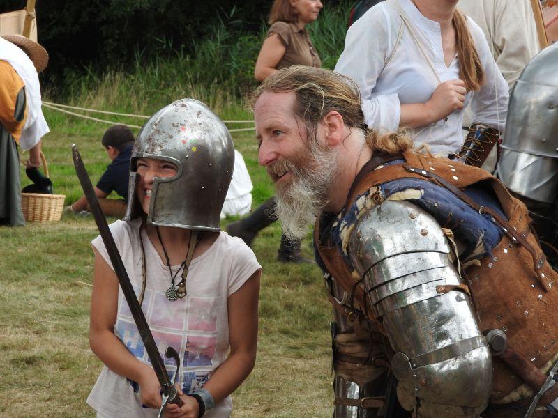 England's Medieval Festival kids