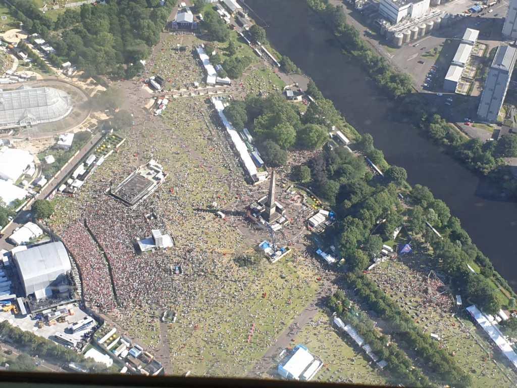 TRNSMT Festival 2019 Aerial Photo