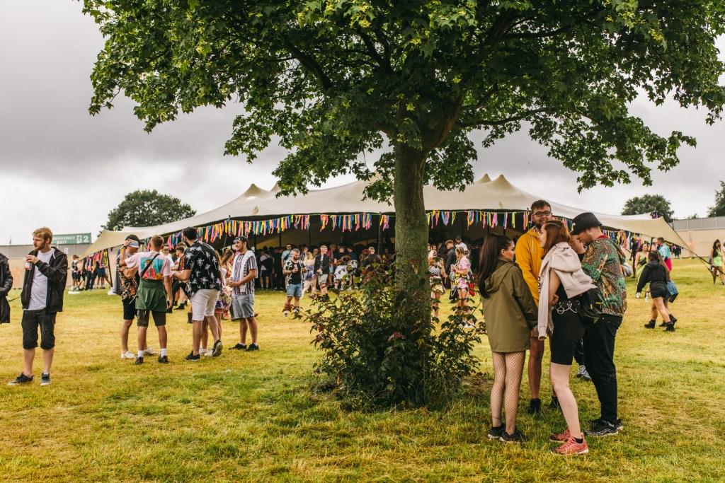 MADE Festival field tent tree
