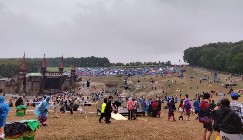 Boomtown Lions Den in the rain Sunday 2018