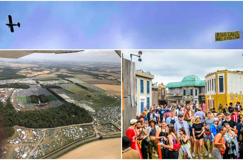 Exclusive aerial photos of Boomtown from the 'Jesus plane'