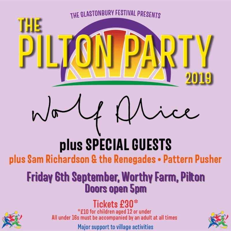 Pilton Party 2019 Line-up Poster Glastonbury