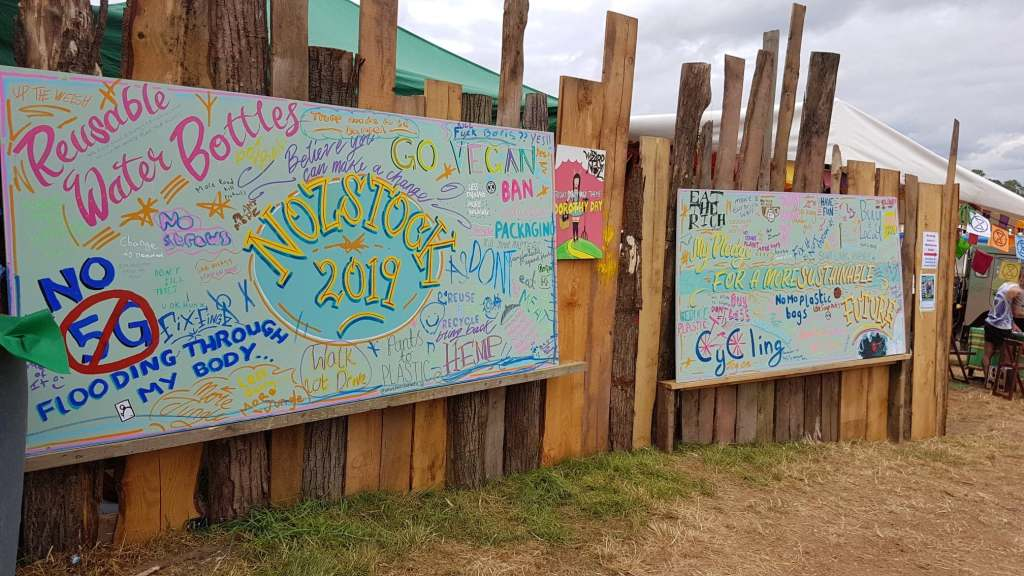Nozstock's sustainability board