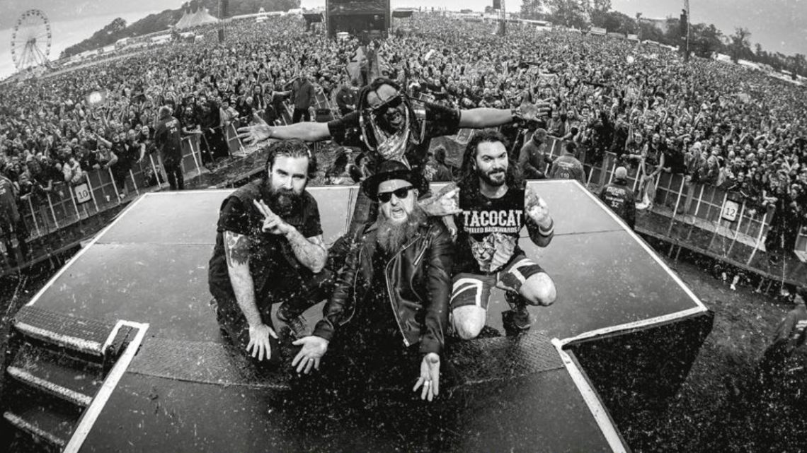 Skindred at Download main stage
