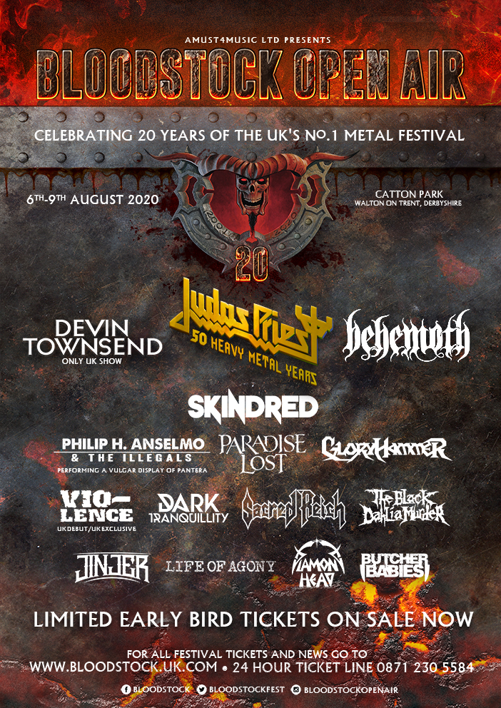 Bloodstock 2020 updated line-up poster