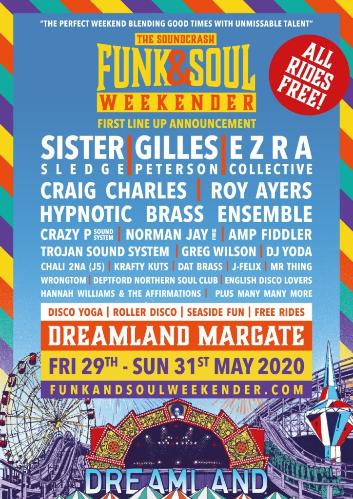Soundcrash Funk & Soul Weekender 2020 line-up poster