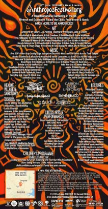 Anthropos Festival 2020 line-up poster