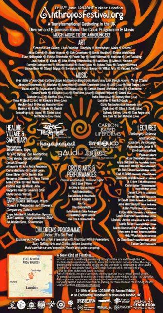 Anthropos Festival 2020 line-up poster