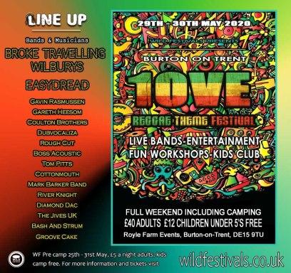 Burton on Trent Reggae 2020 line-up poster