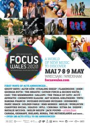 Focus Wales 2020 line-up poster