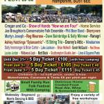 New Forest Folk Festival 2020 line-up poster