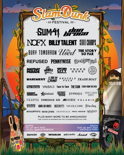 Slam Dunk Festival 2020 line-up poster