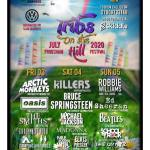 Tributes on the Hill Frodsham 2020 line-up poster