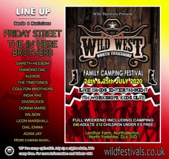 Wild West North Yorkshire 2020 line-up poster