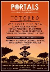 Portals Festival line-up poster 2020
