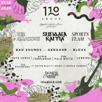 110 Above festival line-up poster 2020