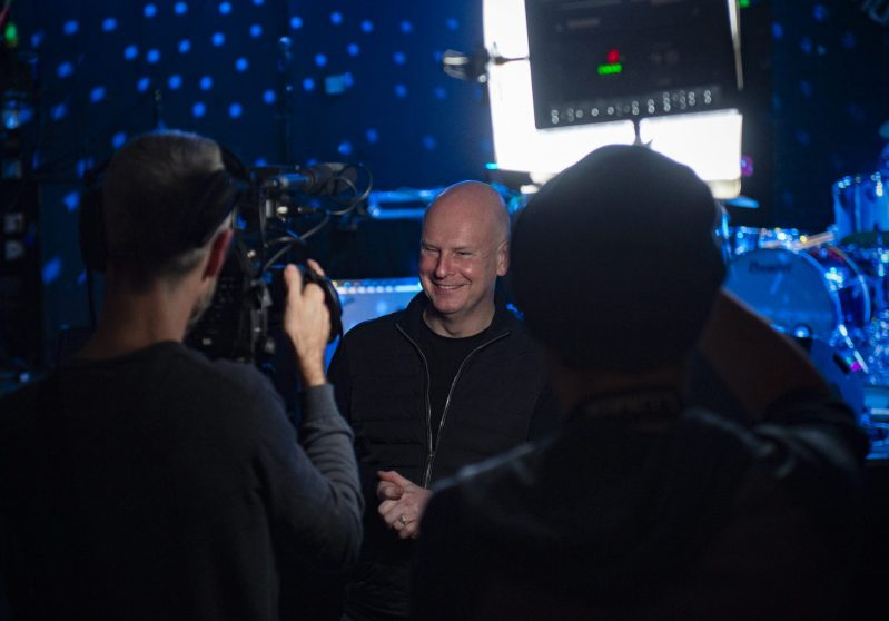 Phillip Selway Filming for Long and Winding Road at IVW 2019 | Credit: Gary Prior