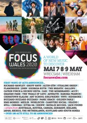 Focus Wales 2020 line-up poster updated