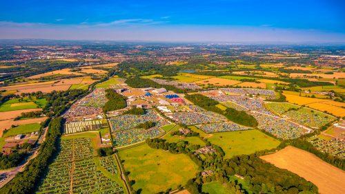 Creamfields aerial photo