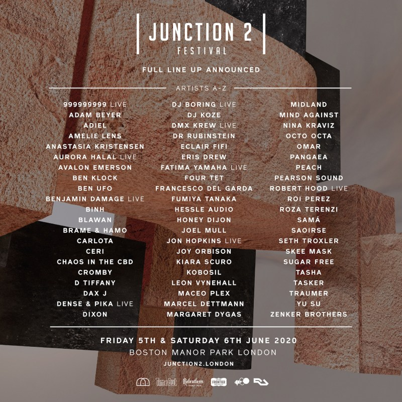 Junction 2 Festival 2020 line-up poster