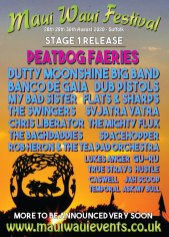Maui Waui Festival 2020 line-up poster