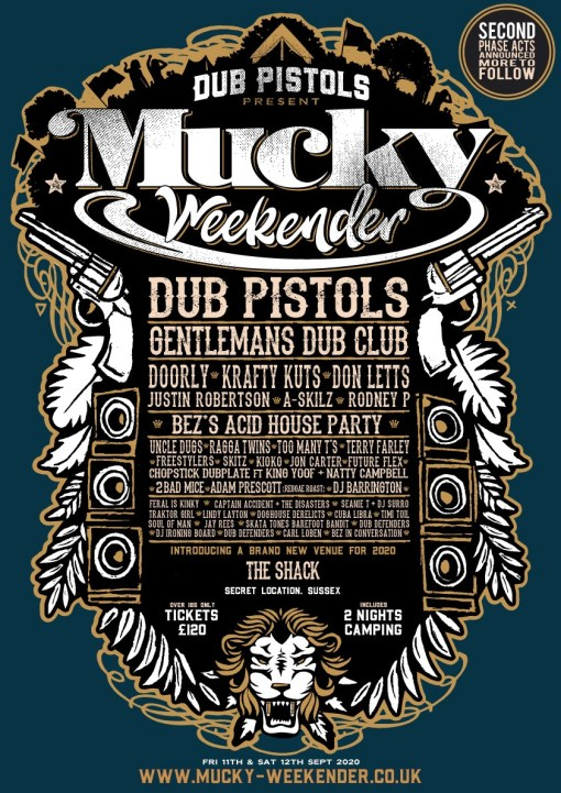 Mucky Weekender 2020 line-up poster updated