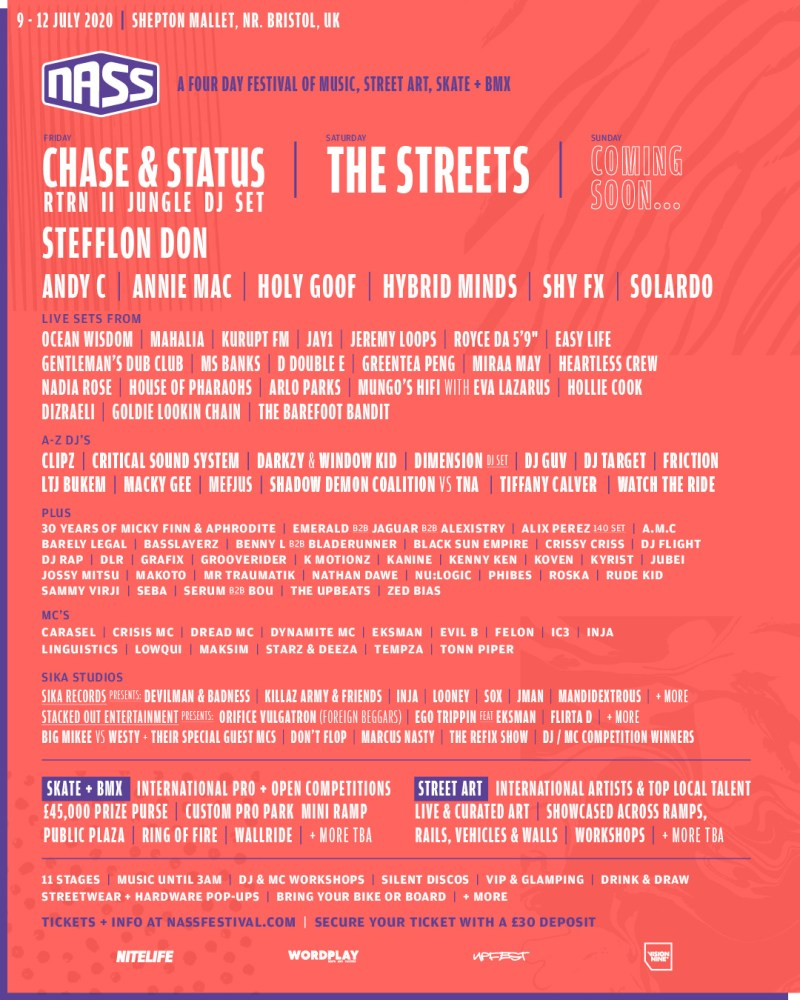 NASS 2020 latest line-up poster