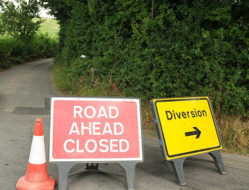 Glastonbury road closed