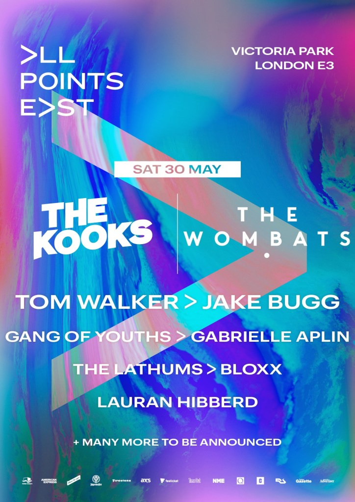 All Points East Wombats Kooks line-up poster 2020