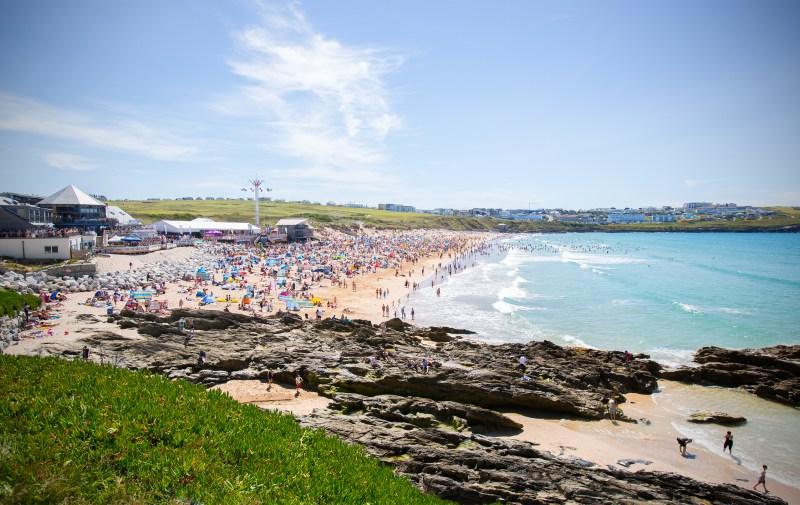 Boardmasters beach crowd