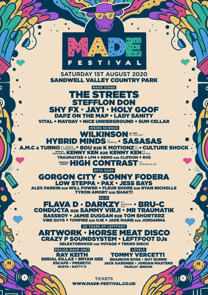 MADE Festival 2020 updated line-up poster