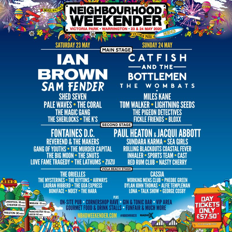 Neighbourhood Weekender 2020 line-up poster