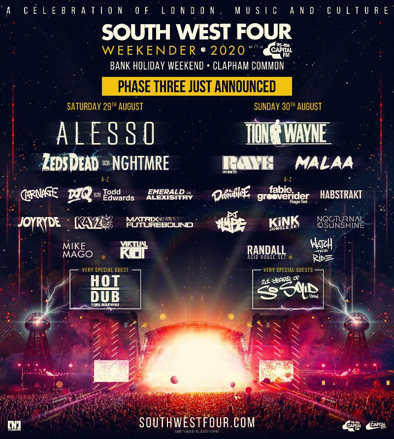 South West Four new day reveal