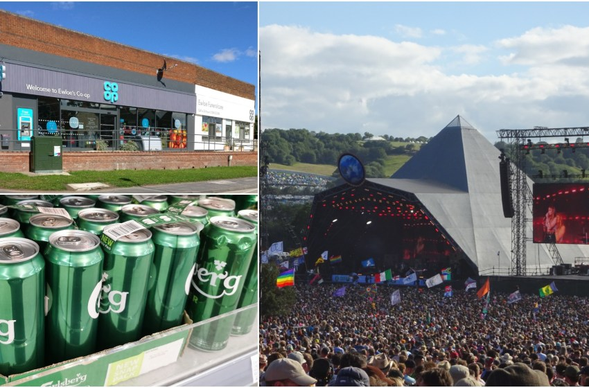 You could win Glastonbury tickets buying Carlsberg at the Co-op