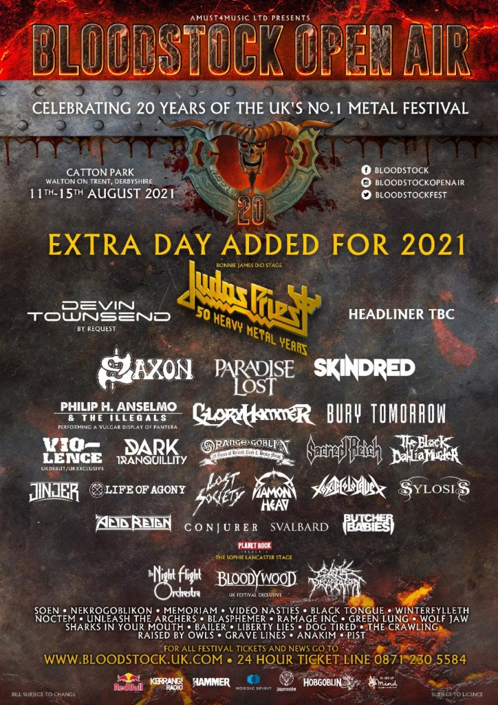 Bloodstock 2021 latest line-up poster