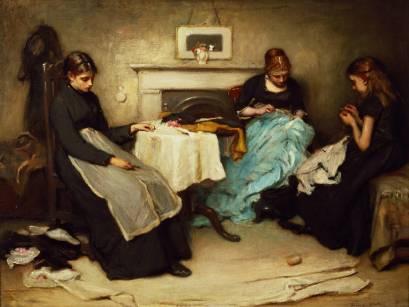 "Frank Holl, ""Seamstresses,"" 1875 (via VictorianWeb.org)"