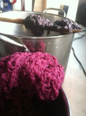 Dyeing the fibers