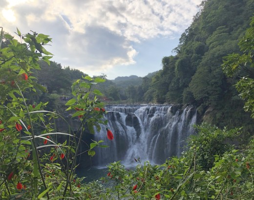 waterfalls in west and east asia