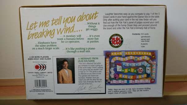 Yuk Yuks Board Game