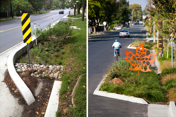 Left: Department of Environmental Protection, Montgomery County, MD Right: image and design by MIG, Inc.
