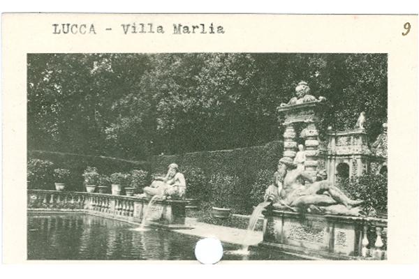 Photo of the ornamental peschiera (fish pond) at Villa Marlia, Lucca, Italy. image: James O'Day
