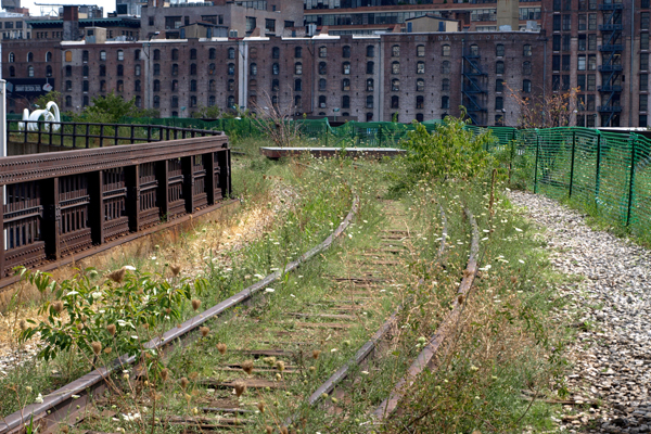 The High Line's third and final section--the High Line at the Rail Yards--in August 2013 image: Alexandra Hay
