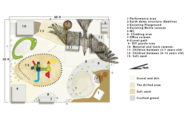 Design proposal's master plan.  image: Malda Takieddine