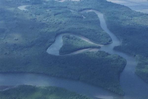 A heart-shaped island image: Lisa Bailey