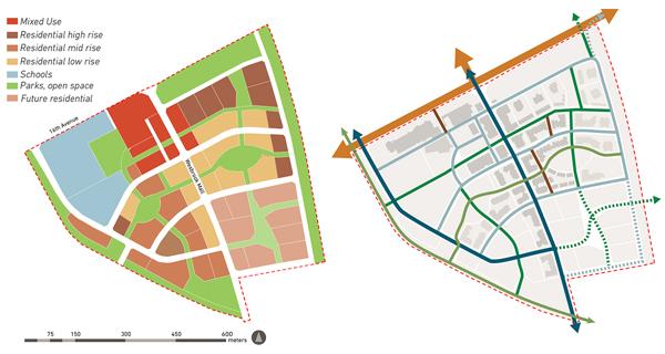 Land use plan and street network plan image: Cynthia Girling