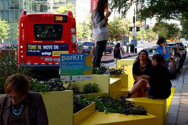Not just for (PARK)ing Day: the Golden Triangle BID / Gensler space is Washington, DC's first long-term parklet image: Alexandra Hay