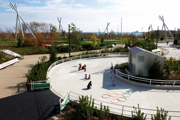 Maggie Daley Park's skating ribbon image: Alexandra Hay