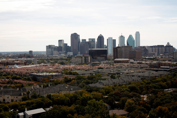 Figure.4 Dallas Skyline within Urban Context, TX image: Taner R. Ozdil, 2013