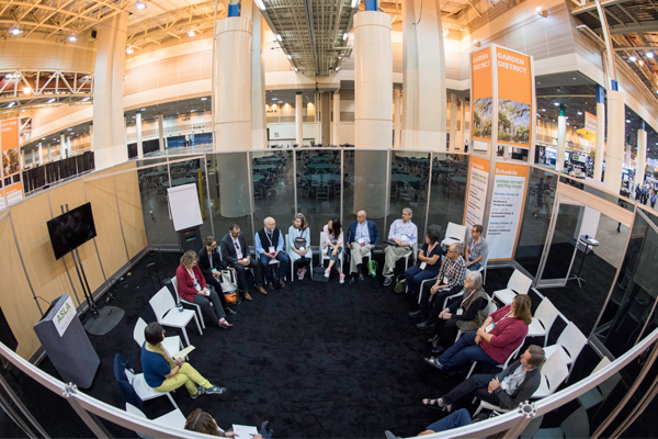 The Healthcare & Therapeutic Design PPN meeting, led by PPN Chair Lisa Bailey, ASLA image: Event Photography of North America Corporation (EPNAC)