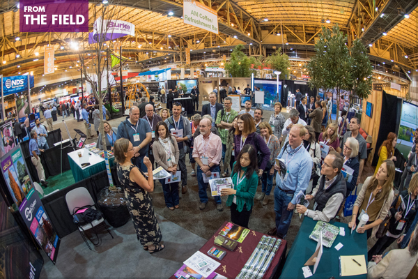 Nancy Buley, Hon. ASLA, of J. Frank Schmidt & Son Co., speaks to Planting Design PPN EXPO Tour attendees on October 22, 2016 in New Orleans. image: Event Photography of North America Corporation (EPNAC)